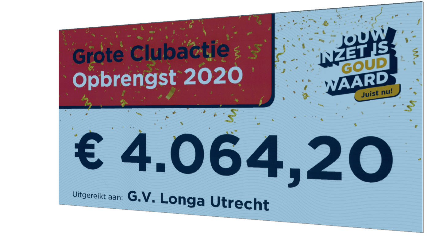 Grote Clubactie Opbrengst 2020